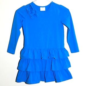 Hanna Andersson Long Sleeve Ruffle Dress 120 6/7